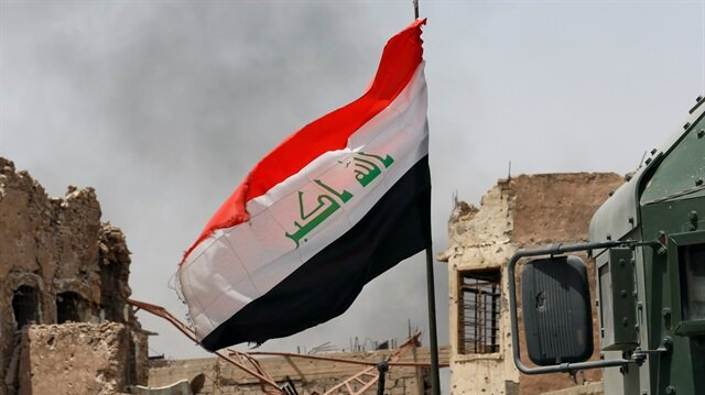 An Iraqi flag is seen