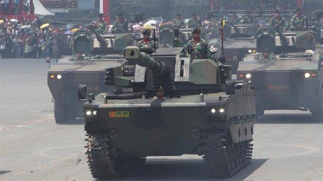 Kaplan tankı Endonezya'da görücüye çıktı