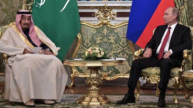 Kral Salman ile Rusya lideri Putin