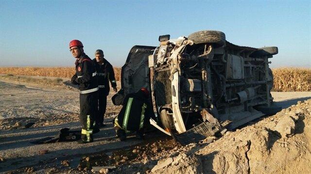 Karaman'da meydana gelen trafik kazasında 14 kişi yaralandı.