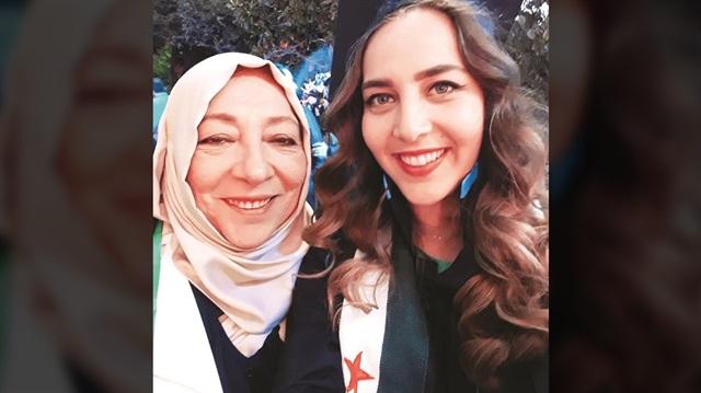 Suriyeli aktivist Orouba Barakat ve gazeteci kızı Halla Barakat
