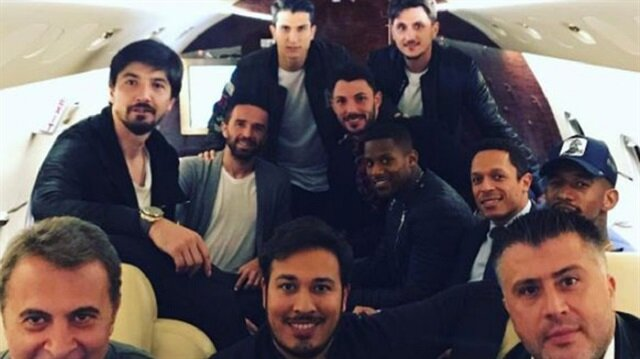 Beşiktaşlı yöneticiler ve futbolcular milli takıma destek vermek için Eskişehir'e geldi.