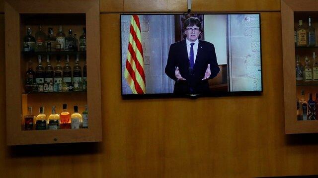 Katalonya Özerk Yönetim Hükümetinin Başkanı Carles Puigdemont,