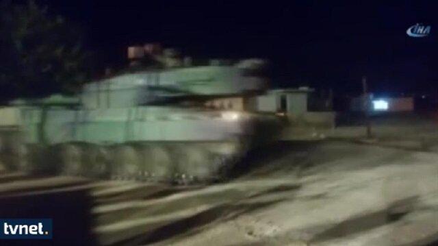ترحيب هائل من أهالي القرى على الحدود السورية بدخول الدبابات التركية