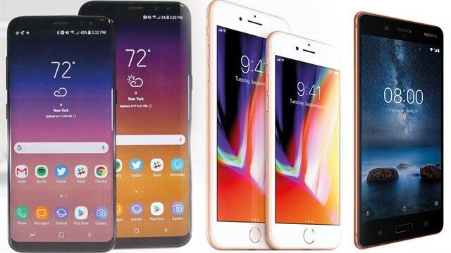 Akıllı telefon pazarında şirketler, adlarına '8' ekledikleri modellerle kıyasıya rekabet ediyor.