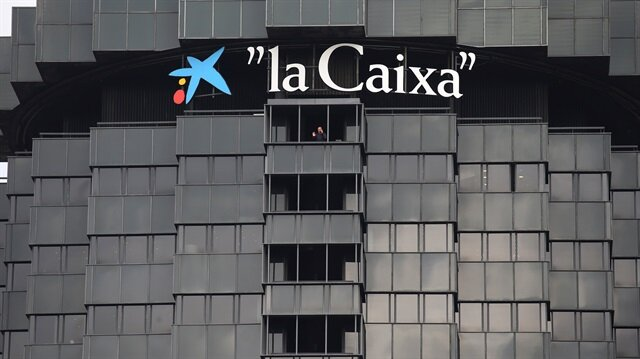 The headquarters of Spanish lender Caixabank