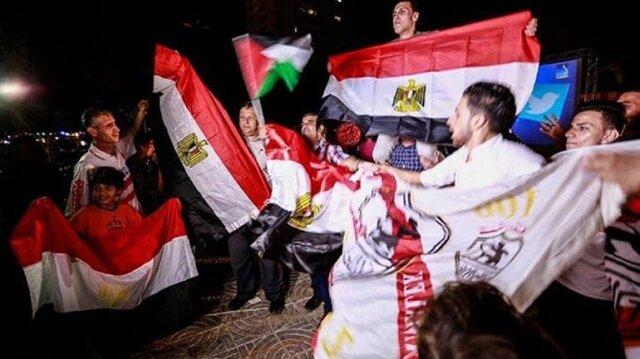 غزة تفرح لتأهل المنتخب المصري لمونديال روسيا