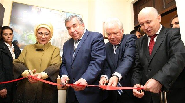 """أمينة أردوغان تفتتح مشاريعًا لـ""""تيكا"""" التركية بإحدى الجامعات الأوكرانية"""