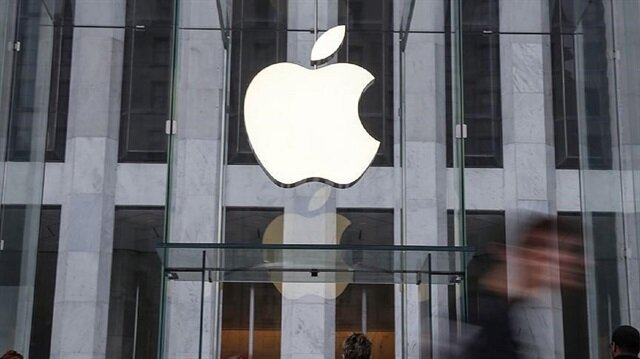 An Apple logo