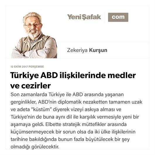 Türkiye ABD ilişkilerinde medler ve cezirler
