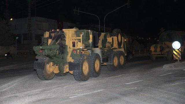 Sınır bölgesine intikali gerçekleştirilen araçlar