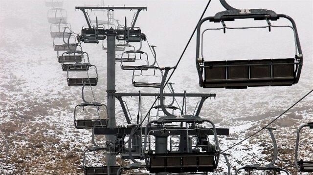 Erzurum'da kar yağışı.