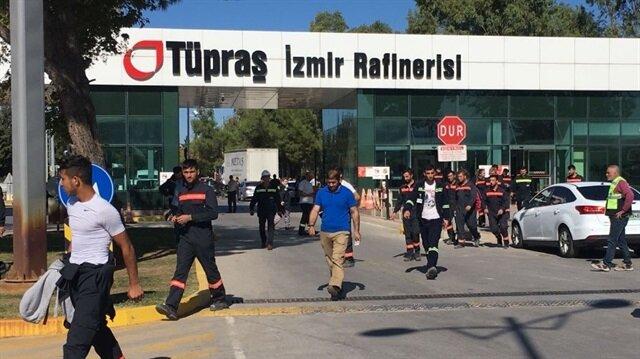 Dün Tüpraş'ın İzmir rafinerisinde patlama meydana gelmişti.