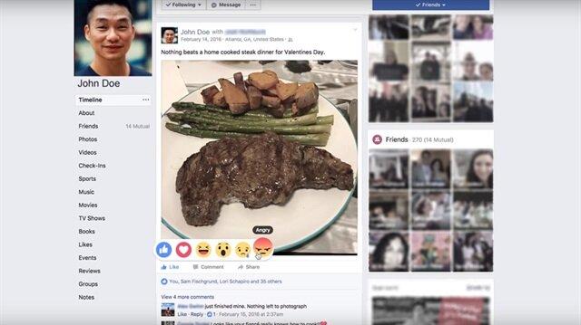 Facebook'un yeni profil fotoğrafı emojilere göre tepki verecek.