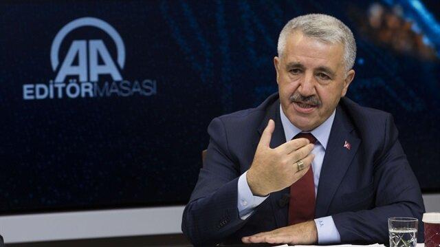 Ulaştırma, Denizcilik ve Haberleşme Bakanı Ahmet Arslan.