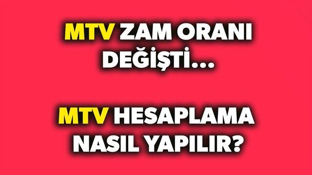 MTV zam oranı değişti! MTV hesaplama nasıl yapılır? sorusunun yanıtı haberimizde.
