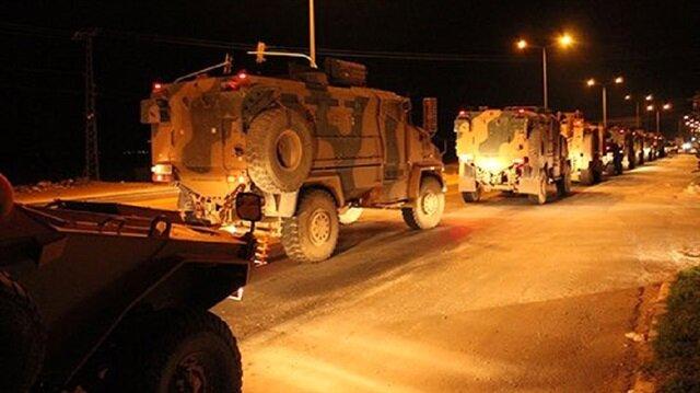 TSK'nın İdlib bölgesine giriş anı!