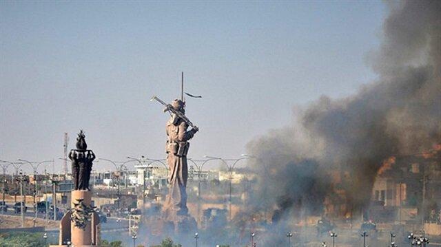 Peşmerge heykeli ateşe verildi