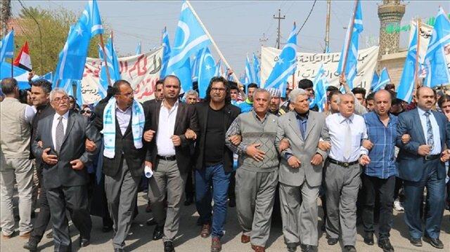 Unknown assailants torch Turkmen Front office in Kirkuk