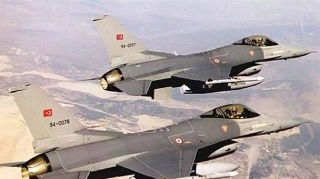 مقاتلات تركية تقصف أهدافاً لـ