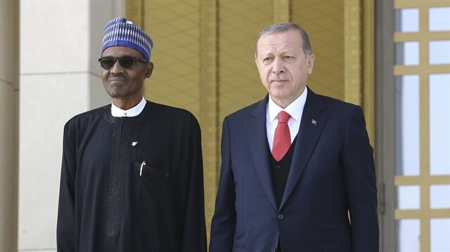 Nigerian President Buhari arrives in Ankara