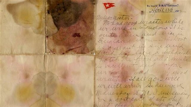 Titanic victim's letter expected to sell for thousands