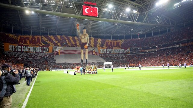 Galatasaray'dan ses getiren koreografi