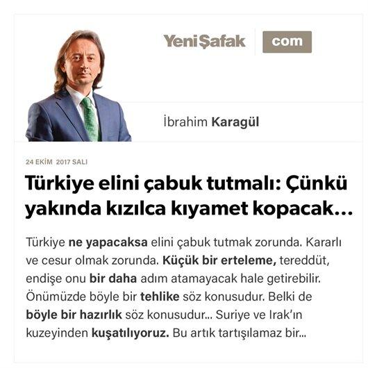Türkiye elini çabuk tutmalı: Çünkü yakında kızılca kıyamet kopacak…