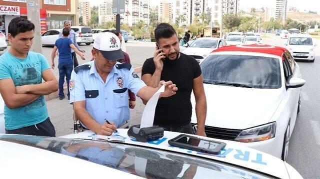 İlginç protestoya 301 liralık modifiye cezası