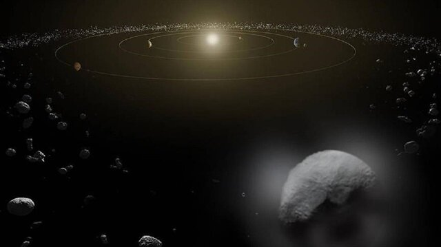 Açıklamada, yıldızlar arası uzaydan gelen A/2017 U1 olarak isimlendirilen cismin 400 metre çapından daha küçük olduğu ve çok hızlı hareket ettiği bilgisi yer aldı.