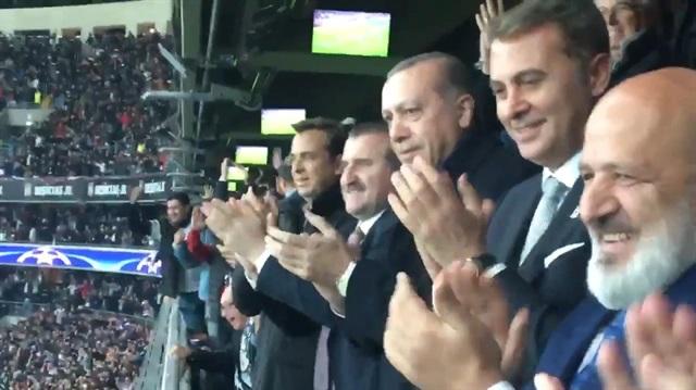 Cumhurbaşkanı Erdoğan Cenk'in golü sonrası böyle sevindi