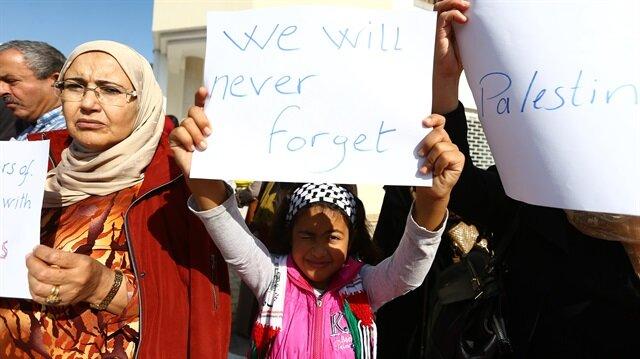 """Güney Afrika'da """"Balfour Deklarasyonu"""" protestosu"""