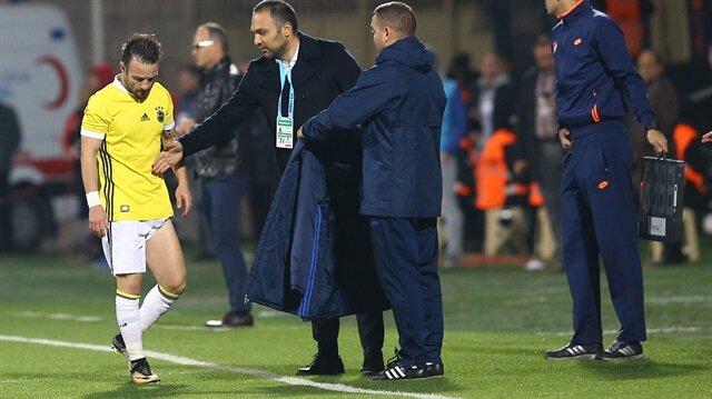Valbuena Osmanlıspor maçında oyundan çıkarken oldukça üzgündü.