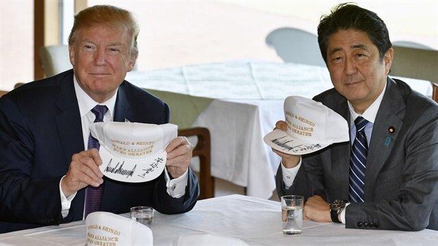ABD Başkanı Donald Trump, Asya turunun ilk durağı Japonya'da Başbakan Shinzo Abe ile