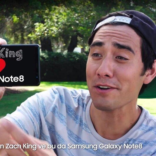 Ünlü fenomen Note 8 reklamının yüzü oldu