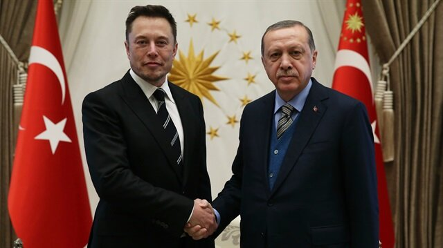 Erdoğan'ın Elon Musk'ı kabulünden ilk kareler