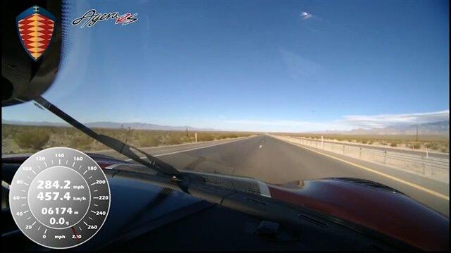 Saatte 457 Km hızla artık dünyanın en hızlı otomobili!