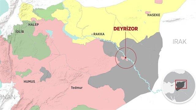 DEAŞ, halen Deyrizor kırsalında sınırlı bir alanda varlık gösteriyor.