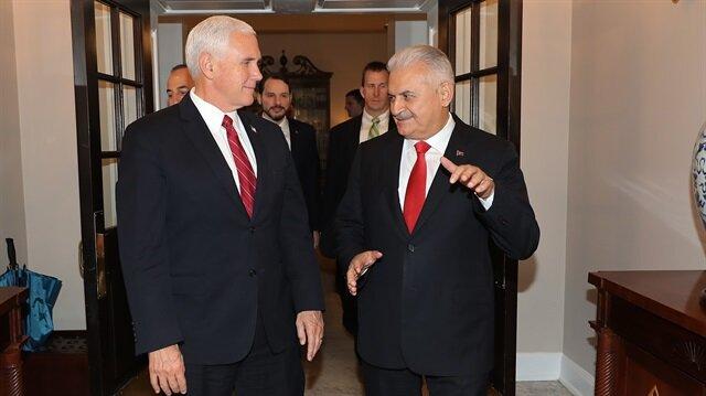 Yıldırım ile Pence Beyaz Saray'da bir araya geldi.