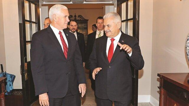 Başbakan Binali Yıldırım, Başkan Yardımcısı Mike Pence ile kritik bir görüşme gerçekleştirdi.