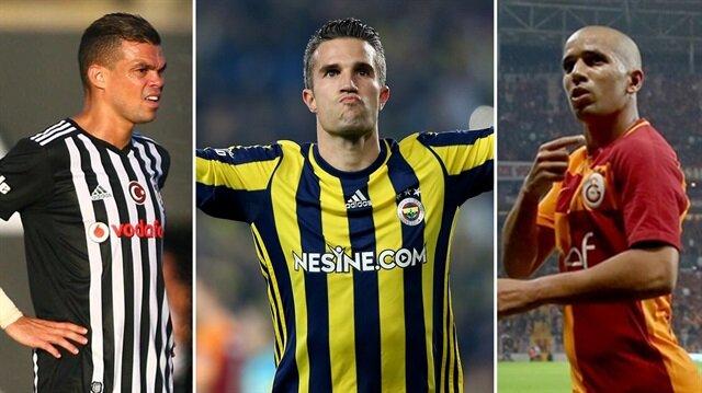 Beşiktaş, Feenrbahçe ve Galatasaray'ın en çok kazanan futbolcuları: Pepe-Van Persie-Feghouli.