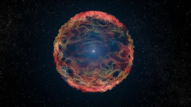 """İlk kez 2014'te keşfedilen ve """"iPTF14hls"""" koduyla anılan süpernova patlamasının ardından sönmeye başlayan yıldızın birkaç ay sonra yeniden canlandığını gözledi."""