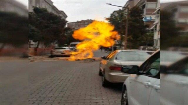 Avcılar'da doğalgaz borusu patladı