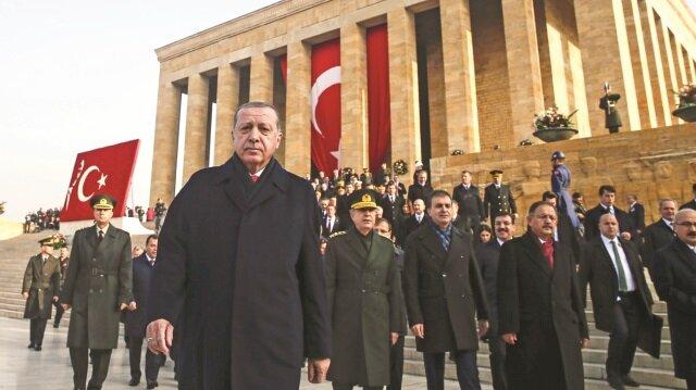 """""""Atatürk'ü Anma Töreni""""ne katılan Cumhurbaşkanı Tayyip Erdoğan, önemli mesajlar verdi."""