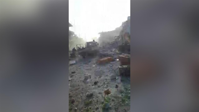 Rus Uçakları Etarib'i Vurdu