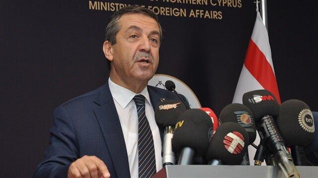 Kuzey Kıbrıs Türk Cumhuriyeti (KKTC) Dışişleri Bakanı Tahsin Ertuğruloğlu