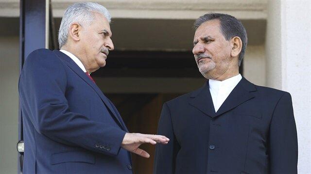 Başbakan Binali Yıldırım - İran Cumhurbaşkanı Birinci Yardımcısı İshak Cihangiri