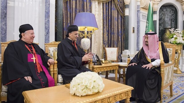 Maronite Patriarch of Antioch Bechara Boutros al-Rahi in Riyadh