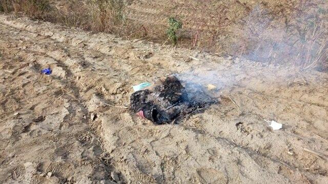 Kazı çalışmasında bir yorgana sarılı çuval içerisinde erkek cesedi buldu