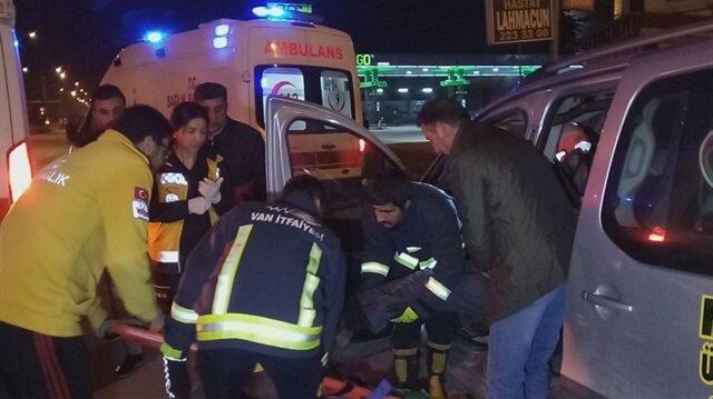 Van'da meydana gelen trafik kazası sonucunda 3 kişi yaralandı.